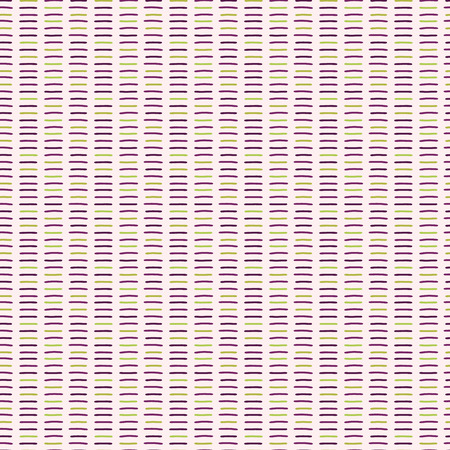 Hand drawn vector line stripes pattern. Seamless repeating background illustration. Purple pinastel flat color illustration for geometric backdrop, horizontal abstract all over print. Foto de archivo - 124733364