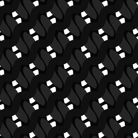 White on Black Polka Dot Seamless Vector Pattern. Hand Drawn Texture Graphic for Packaging, Modern Fashion Prints, Stationery, Masculine Paper Goods or Trendy Wrap. Monochrome All Over Backdrop.