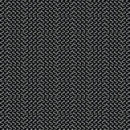 Bianco su nero Macro Mesh Seamless Pattern vettoriale. Grafica di texture disegnata a mano per imballaggi industriali, stampe di moda moderna, articoli di cancelleria, articoli di carta o alla moda. In bianco e nero su tutto lo sfondo.