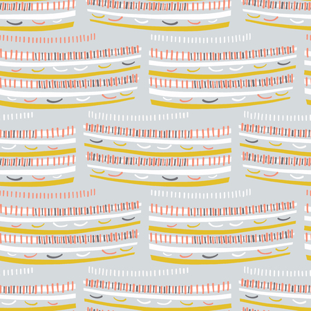 Abstract graphic doodle texture seamless pattern. Dots, stripes, sketchy vector illustration 일러스트