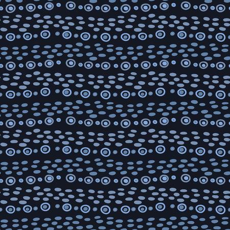 Indigo blue graphic doodle line stripes seamless pattern. Sketchy organic marks vector illustration. Vektorové ilustrace
