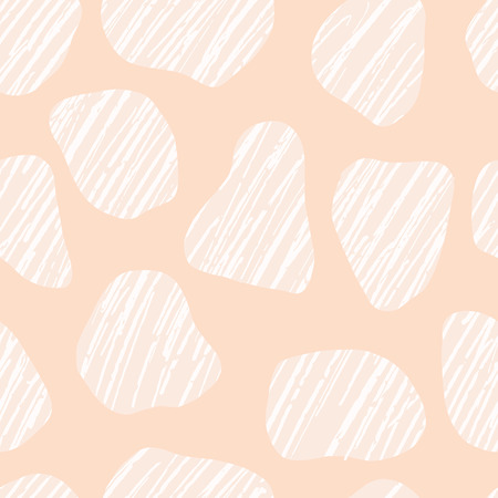 Hand drawn graphic doodle pebbles seamless pattern. Sketchy organic stone texture vector illustration.