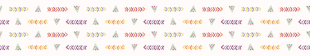 Abstract graphic doodle texture seamless border pattern. Sketchy triangle geo stripe vector illustration. Иллюстрация
