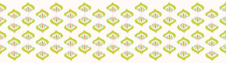 Pretty flower damask border. Seamless repeating flourish scroll. Hand drawn trendy floral vector illustration. Bright ornamental in decorative teal green ribbon trim. Spring fashion, retro home decor.