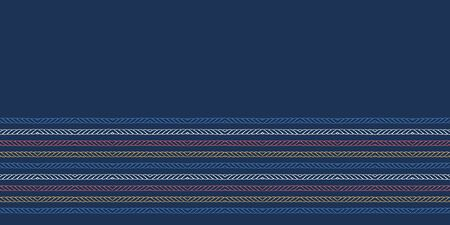Red blue ocean regatta stripes seamless vector pattern. Hand drawn seaside rope lines. Aqua all over print for nautical textiles, maritime home decor. Yacht fashion. Classy red blue beach wear fabric