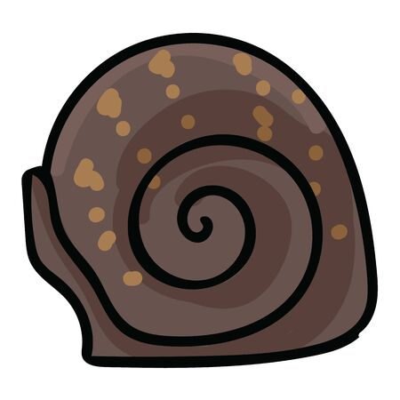 Cute snail shell cartoon vector illustration motif set. Hand drawn isolated helix elements clipart for nature blog, bug graphic, escargot web buttons