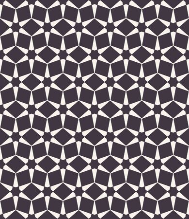 Seamless vector pattern. Hand drawn mosaic tile shapes. Repeating geo hexagon background. Monochrome design textile swatch, modern black white wallpaper, arabic turkish all over print