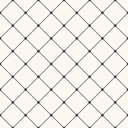 Nahtlose Muster handgezeichnete Scheck kreuz und quer Gitter. Monochromer Zell-Allover-Druck. Vektor-Geo-Muster Vektorgrafik