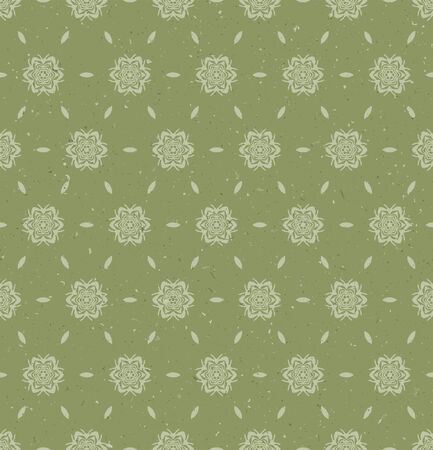 Hand drawn simple wagara damask seamless pattern. Modern small japanese motif, hand drawn in softgrass green ecru neutral tones. All over print for asian homedecor, fashion. Vector swatch repeat.