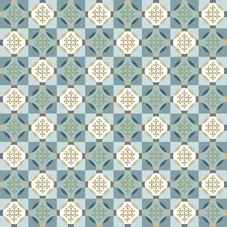 Seamless vector pattern. Hand drawn square geometric mosaic grid. Modern all over print polka dot swatch