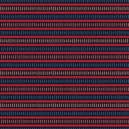Seamless vector pattern. Modern hand drawn broken horizontal stripes. Repeating brush stroke lines background. Abstract folk art colors. Trendy surface design textiles, all over print, boho wallpaper