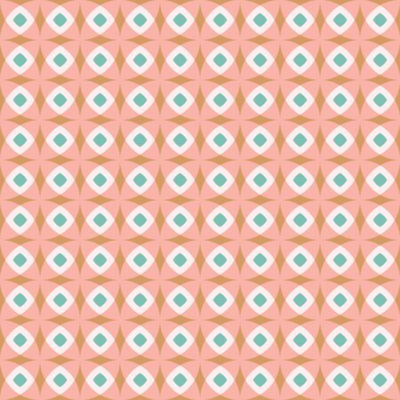 Seamless vector pattern. Hand drawn square retro geometric grid. Modern all over print swatch