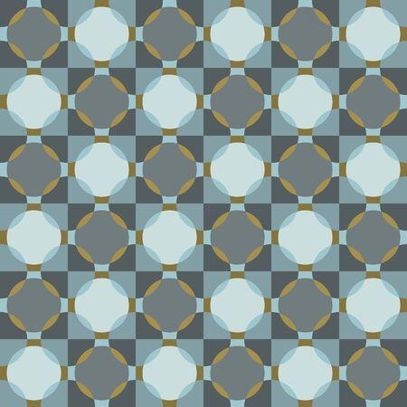 vector pattern. Hand drawn square geometric mosaic grid. Modern all over print polka dot swatch Stock Illustratie