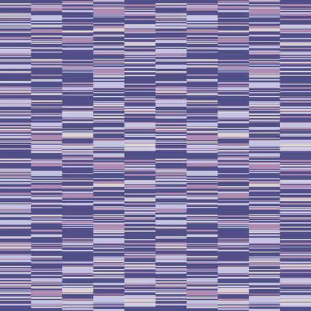 Spliced stripe geometric variegated background. Seamless pattern with woven dye broken stripe. Bright gradient textile blend all over print. Trendy digital disrupted line fashion swatch. 向量圖像