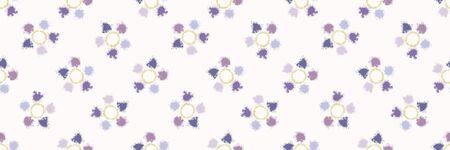 Dotty daisy shibori tie dye sunburst circle border background. Seamless pattern on bleached resist ribbon. Pastel dyed ink ring batik edging trim. Trendy retro gender neutral kid washi tape. Standard-Bild - 133543691