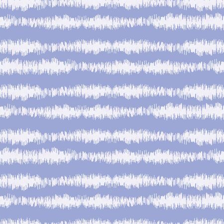Blurry indigo blue shibori striped tie dye background. Seamless pattern with irregular broken stripe bleached resist. Dip dyed bright batik textile. Variegated textured trendy boho fashion. Vetores
