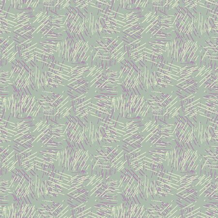 Spliced stripe geometric variegated background. Seamless pattern with woven dye broken stripe. Bright gradient textile blend all over print. Trendy digital disrupted line fashion swatch. Purple hue 向量圖像