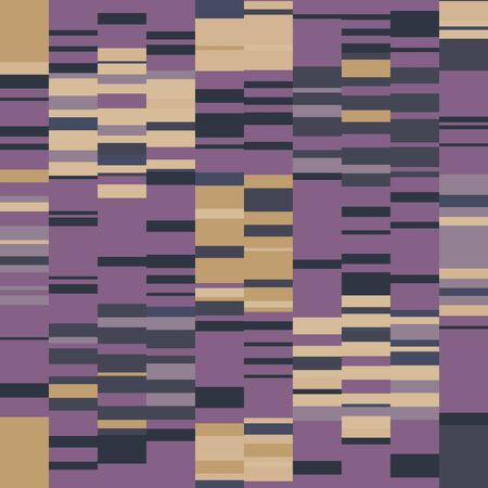 Spliced stripe geometric variegated background. Seamless pattern with woven dye broken stripe. Bright gradient textile blend all over print. Trendy digital disrupted glitch fashion swatch. Purple line