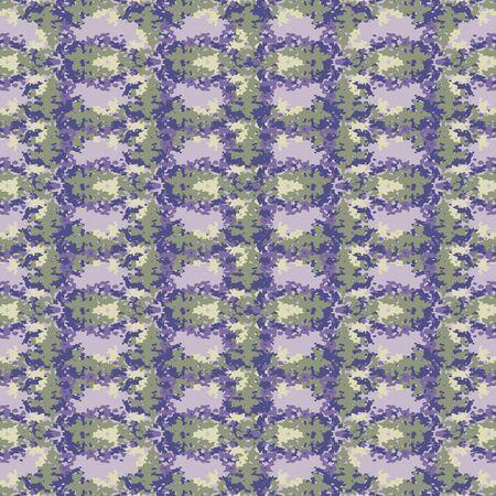 Lavender broken vertical trellis stripe background. Seamless pattern mottled wax print bleached resist. Irregular striped dip dyed batik textile. Variegated textured abstract trendy fashion all over.