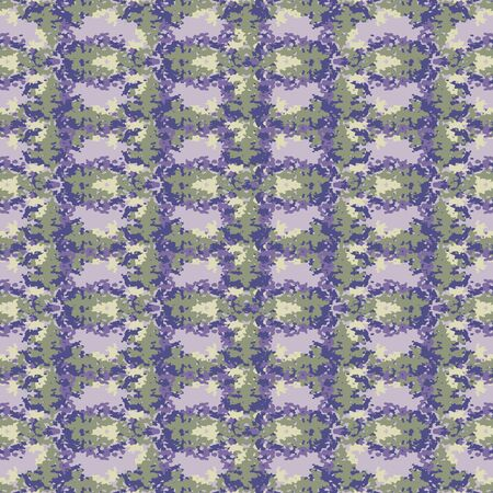 Lavender broken vertical trellis stripe background. Seamless pattern mottled wax print bleached resist. Irregular striped dip dyed batik textile. Variegated textured abstract trendy fashion all over.