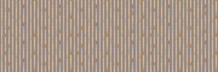 Spliced stripe geometric variegated border background. Seamless pattern with woven dye broken stripe. Homespun geometric blend. Trendy digital disrupted glitch ribbon trim edge. Muted spice color