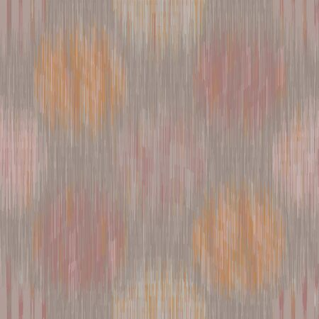 Muted marl ikat seamless pattern. Blended gradient dye texture fabric textile. Vector cotton melange earthy all over print. Space dyed with blurred circle polka dot surface. Vector eps10 swatch repeat