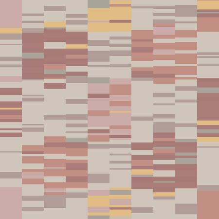 Spliced stripe geometric variegated background. Seamless pattern with woven dye broken stripe. Homespun textile blend all over print. Trendy digital disrupted glitch fashion swatch. Spice color