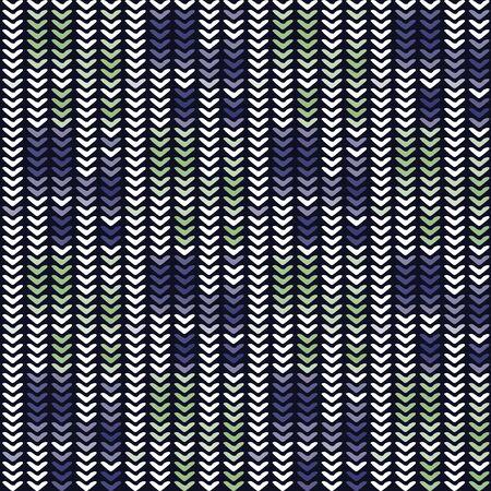 Masculine Stripe Knitted Marl Variegated Background. Winter Nordic Style Seamless Pattern. Indigo Blue Heather Blended Texture. For Tie Dye Effect Textile, Melange All Over Print. Vector Eps 10 Vektorgrafik