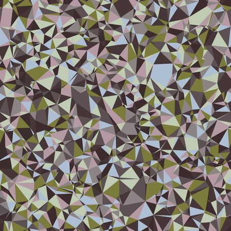 Broken Triangle Mosaic Glass Low Poly Tile Seamless Pattern. Muted Geo Background. Retro 1960s Style Tiled Textile, Packaging, Wallpaper. Micro Geometric Color Block All Over Print in Vector