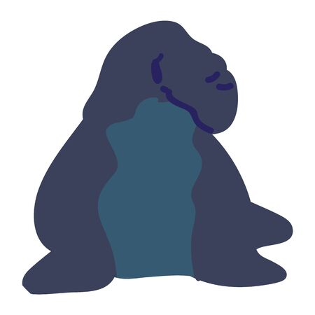 Adorable Cartoon Elephant Seal Clip Art. Water Animal Icon. Hand Drawn Cute Predator Motif Illustration Doodle Lineless Flat Color. Isolated Baby, Nursery and Nautical Wildlife Character.