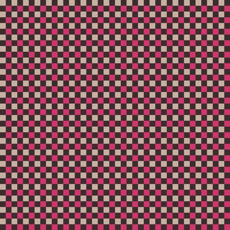 Dishcloth Gingham Seamless Vector Repeat Pattern Background. Red and White Classic Table Cloth and Kitchen Cooking Rag Textile Fabric. Vector Tile