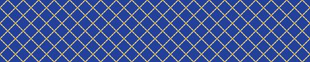 Portuguese Mosaic Tile Seamless Border Pattern. Ceramic Azulejo Style. Tiled Motif Graphic Banner. Traditional Portugal Tourism Ribbon Trim.Travel Brochure Background. Packaging Design.