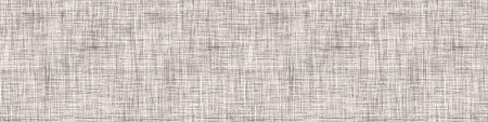 Fond De Bordure De Texture De Lin Français Naturel Gris. Ancien modèle sans couture de fibre de lin écru. Fil organique Close Up Weave Tissu Ruban Garniture Bannière. Emballage en toile de sac, bordure en toile. Vecteurs
