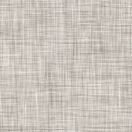 Natural Gray French Linen Texture Background. Old Ecru Flax Fibre Seamless Pattern. Organic Yarn Close Up Weave Fabric for Wallpaper, Sack Cloth Packaging, Canvas . Vector Repeat Tile