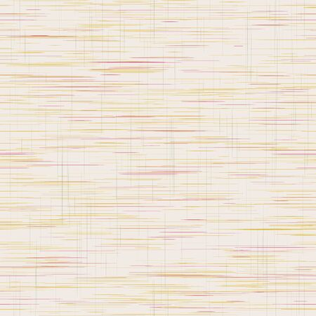 Criss Cross Weave Grainy Texture Background, Hand Drawn Rough Faux Linen Fabric with Grid Lines. Trendy Homespun Muted Tones for Wood Grain Effect, Wallpaper, Packaging. Vector Repeat. Ilustracja