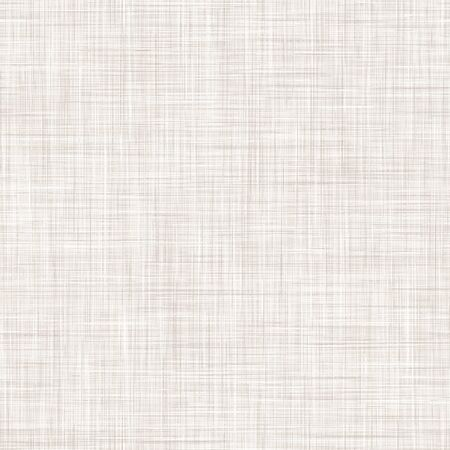 Natural White Gray French Linen Texture Background. Old Ecru Flax Fibre Seamless Pattern. Organic Yarn Close Up Weave Fabric for Wallpaper, Ecru Beige Cloth Packaging Canvas. Vector.