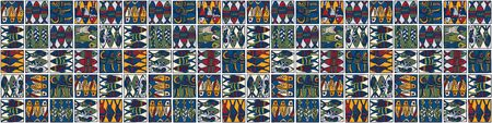 Sardine shoal of fish seamless vector border pattern of grilled fishes. Lisbon St Antonio traditional portugese food festival. June Portugal street party. Atlantic ocean animal ribbon. Illustration