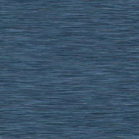 Classic Blue Dark denim marl seamless pattern. Jeans texture fabric textile background. Masucline Faux Cotton melange t shirt all over print. Vector.