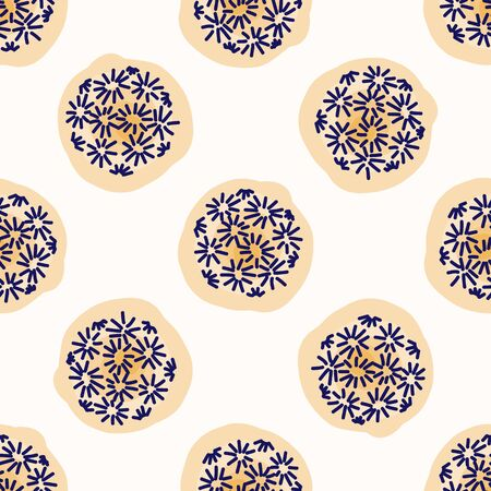 Embroidery Dot All Over Print Vector Texture. Modern Geometric Hand Drawn Stitch Circle. Seamless Abstract Spotty Pattern Background.