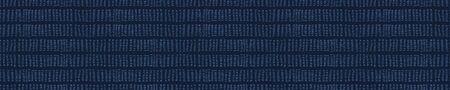 Embroidery Boro Fabric Sashiko Kantha Vector Border Pattern. Striped Needlework Banner Background Indigo Blue Style. Running Hand Stitch Texture Textile Trim. Japan Decor. Masculine Washi Tape.