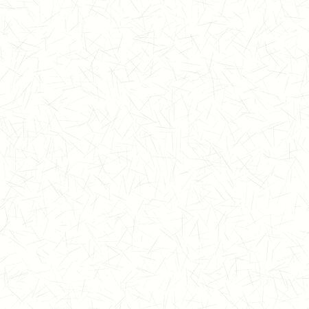 Handgemachte Maulbeere Washi Papier Textur nahtlose Muster. Weißer Hintergrund mit kleinen gesprenkelten gezeichneten Flecken. Weicher, neutraler Grauton. All Over Recycling-Druck.