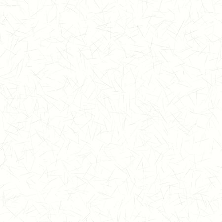 Patrón transparente de textura de papel washi de morera hecha a mano. Fondo blanco con pequeñas motas dibujadas moteadas. Tono neutro gris apagado suave. Impresión totalmente reciclada.