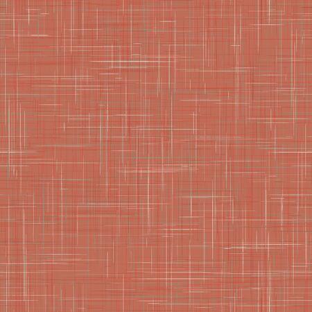 Roter französischer Leinenbeschaffenheitshintergrund in der natürlichen gedämpften Krapp-Farbe. Ecru Flachs-Faser-nahtloses Muster. Bio-Gewebe in der Nähe für Tapeten, Stoffverpackungen. Kachel wiederholen.