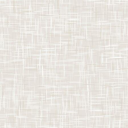 Fondo de textura de lino francés gris blanco natural. Patrón sin costuras de fibra de lino crudo antiguo. Cerca de hilo orgánico tejido tejido para papel tapiz, lienzo de embalaje de tela beige crudo. Vector. Ilustración de vector