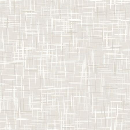 Natural White Gray French Linen Texture Background. Old Ecru Flax Fibre Seamless Pattern. Organic Yarn Close Up Weave Fabric for Wallpaper, Ecru Beige Cloth Packaging Canvas. Vector. Illustration