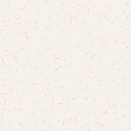 Mulberry Washi Paper Texture Background. Off White Natural Fibre Flecks on Organic Cream Color. All Over Speckled Recycled Print for Homespun Japanese Home Decor Surface. Vector Repeat.