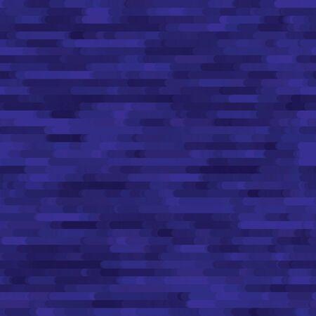 Seamless Texture of Pixel Denim Blue Melange Marl Blend. Variegated Indigo Dye Color Tones. Dense Pixelated Noise Style. Disrupted Glitch Stripe Flowing Water Effect Background.