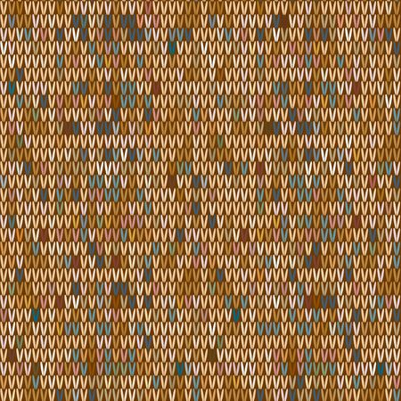 Brown Heather Marl Tweed Knit Texture Background. Blanket Stitch Seamless Pattern. Homespun Faux Woolen Fabric Structure Textile. Monochrome Yarn Melange All Over Print.