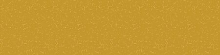 Handmade Mulberry Washi Paper Border Texture Seamless Pattern. Saffron Yellow Background Banner with Tiny Speckled Drawn Flecks . Soft Warm Mustard Neutral Tone. Recycled Washy Tape .