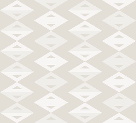 French Gray Linen Chevron Stripe Texture Background. Ecru Flax Seamless Pattern. Ikat Kelim Edge Line Swatch. Off White Unbleached Gray Cloth Effect. Natural Monochrome Repeat Tile  イラスト・ベクター素材